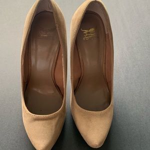 Tan Stilettos Shiekh Women's Platform Shoes Sz 5.5